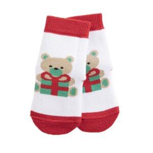 Bärchen Socken Biobaumwolle weiß - VNS Organic
