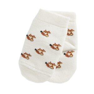 Fox Socken cream Biobaumwolle - VNS Organic