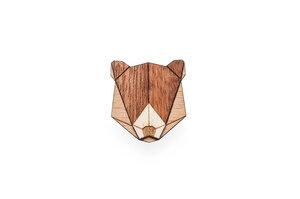 Holzanstecker Bear Brooch - BeWooden