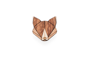 Holzanstecker Fox Brooch - BeWooden