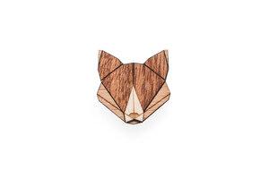 Brosche aus Holz - Fuchs | Mode Schmuck - BeWooden