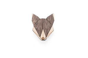 Holzanstecker Wolf Brooch - BeWooden