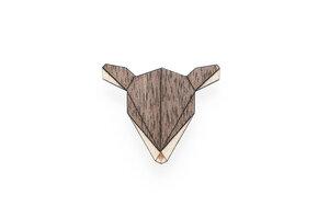 Brosche aus Holz - Reh    Mode Schmuck - BeWooden