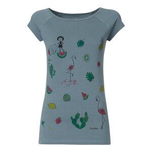 FellHerz Lovely things Cap Sleeve T-Shirt Damen hellblau Bio Fair - FellHerz