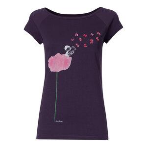 FellHerz Tubamädchen Cap Sleeve T-Shirt Damen violett Bio Fair - FellHerz