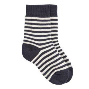 Gestreifte Kinder Bio Socken schwarz - VNS Organic