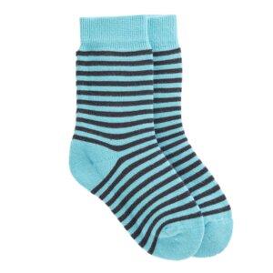 Gestreifte Kinder Bio Socken blau - VNS Organic
