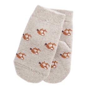 Fox Socken Biobaumwolle beige - VNS Organic