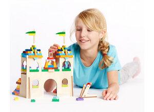 Schloss Bastelset  aus Holz - Lego-Kompatibel - Brikkon