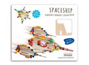 Raumschiff Bastelset aus Holz - Lego-Kompatibel - Brikkon