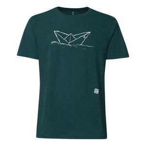 Paperboat T-Shirt Herren weiß/petrol Bio & Fair - ilovemixtapes