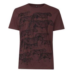 Tiger T-Shirt Herren schwarz/dunkelbraun Bio & Fair - THOKKTHOKK
