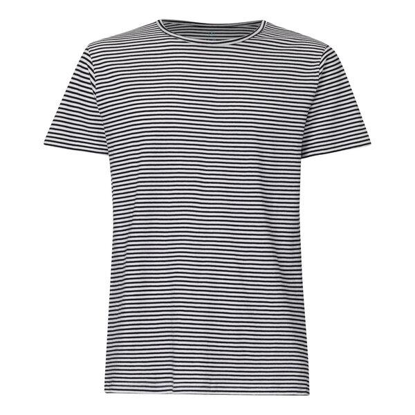 wo kann ich kaufen heiß-verkaufender Fachmann retro T-Shirt Herren Schwarz/Weiß Gestreift Bio & Fair