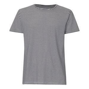 T-Shirt Herren Schwarz/Weiß Gestreift Bio & Fair - THOKKTHOKK