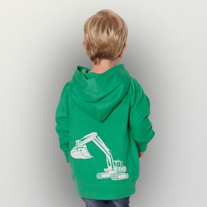 'Bagger' Kinder-Hoody Fairwear Organic - shop handgedruckt
