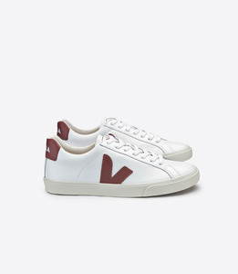 ESPLAR LOW LOGO LEATHER EXTRA WHITE DRIED PETAL - Veja