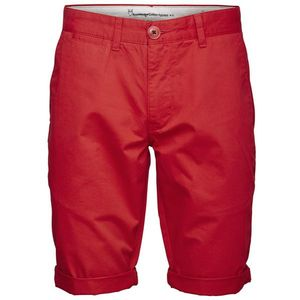 KnowledgeCotton Apparel Twisted Twill Shorts High Risk Red - KnowledgeCotton Apparel