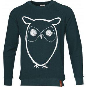 KnowledgeCotton Apparel Sweatshirt With Owl Print Pullover GOTS grün - KnowledgeCotton Apparel