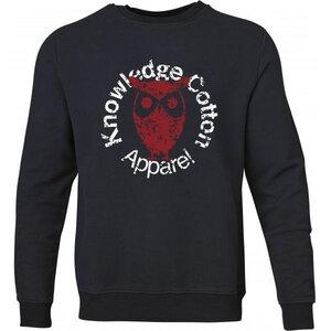KnowledgeCotton Apparel Sweatshirt Pullover Owl Print GOTS Blau - KnowledgeCotton Apparel