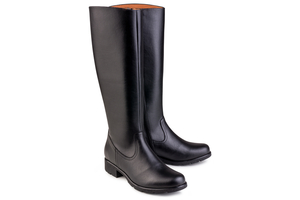 Grip+ Knee High Boot Black - Eco Vegan Shoes