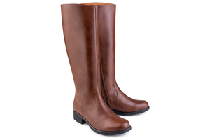 Grip+ Knee High Boot Brown - Eco Vegan Shoes