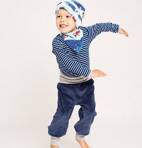 Babypumphose 'Nicki Dunkelblau/Grau' aus 100% Bio-Baumwolle - Cheeky Apple