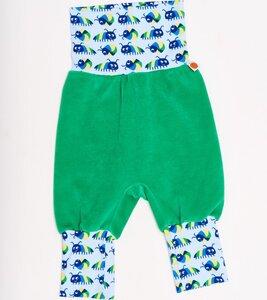 Babypumphose 'Nicki Grün/Little Munkelus' aus 100% Bio-Baumwolle - Cheeky Apple