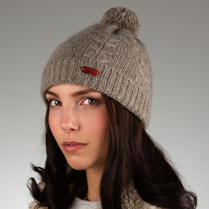 Mütze Uyanga aus Yakwolle grau - mongs®
