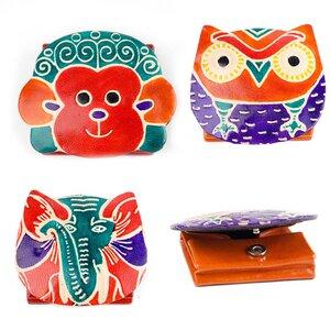 Münzbox Tiermotive aus Leder von Artisans Effort - Artisans Effort