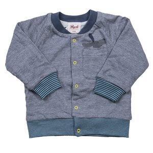 Wendejacke - blau geringelt - People Wear Organic
