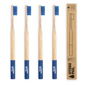 Bambus Zahnbürste Pack blau - HYDROPHIL