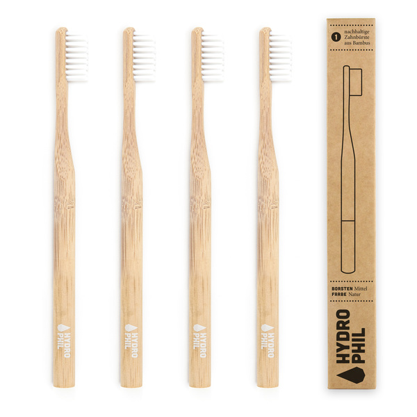Hydrophil Nachhaltige Zahnburste Aus Bambus Natur 4er Pack