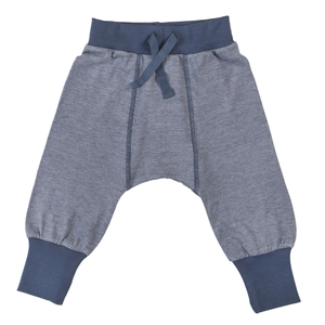 Babyhose - blau-meliert - People Wear Organic