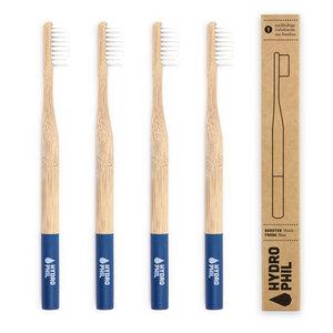 Zahnbürste aus Bambus | extra weich | dunkelblau - HYDROPHIL