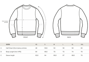 "Unisex Sweatshirt aus Bio-Baumwolle ""Charly"" - University of Soul"