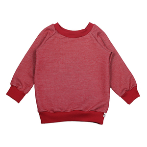 Sweat-Pullover in rot meliert - Carlique