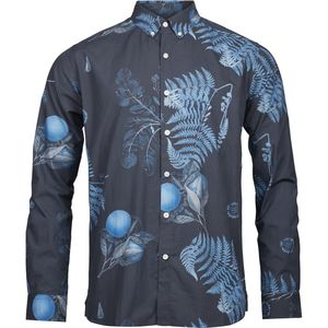Hemd - Poplin with all over print - Total Eclipse - KnowledgeCotton Apparel