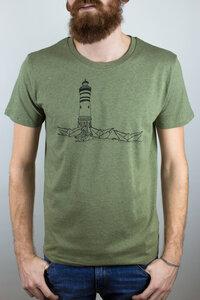 """Bio Faires Herren T-Shirt """"Papierhafen"""" _khaki  - ilovemixtapes"""