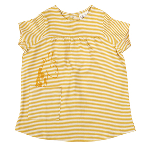 Babykleid - gelb gestreift - People Wear Organic