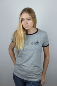 Fair & Organic 'Boat & Waves' Ringer Women T-Shirt - ilovemixtapes