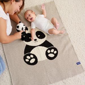 Babydecke aus 100% Bio-Baumwolle, 80x100cm, inkl. Geschenkschachtel - quschel®
