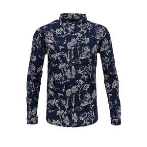 Poplin Shirt W/Allover Bird Print  - KnowledgeCotton Apparel