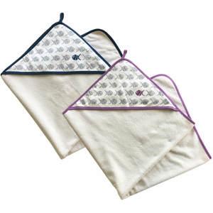 Baby-Kapuzenhandtuch 95x95cm aus Bio-Baumwollfrottee inkl. Stoffbeutel - quschel®