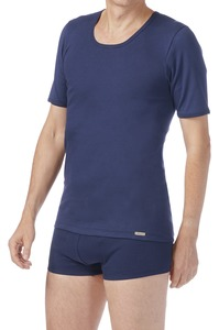 Fairtrade Shirt kurzarm, marine - comazo earth