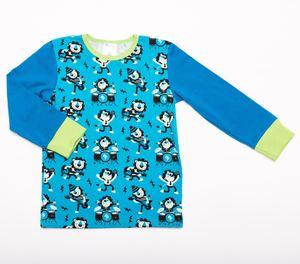 Langarm T-shirt 'Rocking Lions' aus 95% Bio-Baumwolle und 5% Elasthan - Cheeky Apple