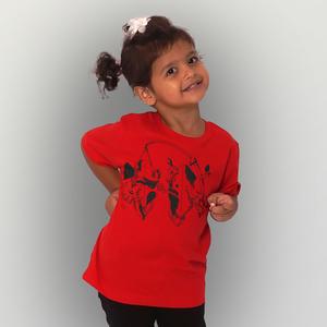 'Angry' Kinder-T-Shirt Fair & Organic - shop handgedruckt