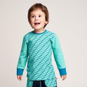 Langarm T-shirt 'Raute' aus 95% Bio-Baumwolle und 5% Elasthan (GOTS) - Cheeky Apple