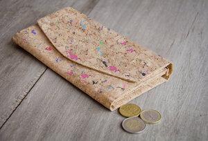 Portemonnaie - Vegan, Brieftasche aus Recycling-Kork Bunt - BY COPALA