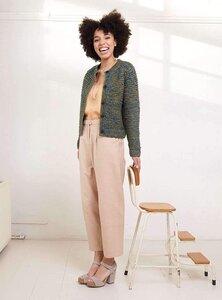 Short Jacket - green ochre melange - STUDIO JUX
