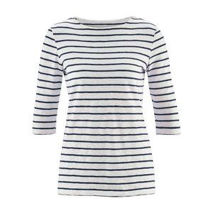 Living Crafts Shirt 3/4-Ärmel Chloe White/Navy - Living Crafts